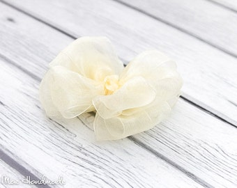 Ivory Organza Layered Boutique Bow