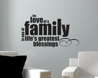 Family Wall Decal - Love of a Family Vinyl Lettering - Vinyl Wall Decal - Family Quote Decal - Home Decor - Wedding Registry