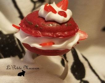 Sweet Lolita Macaron Ring 1 Strawberry Choco