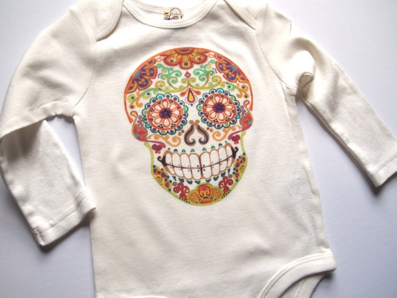 Hippie baby clothes Long Sleeve Skull Shirt 9 to 12 month day