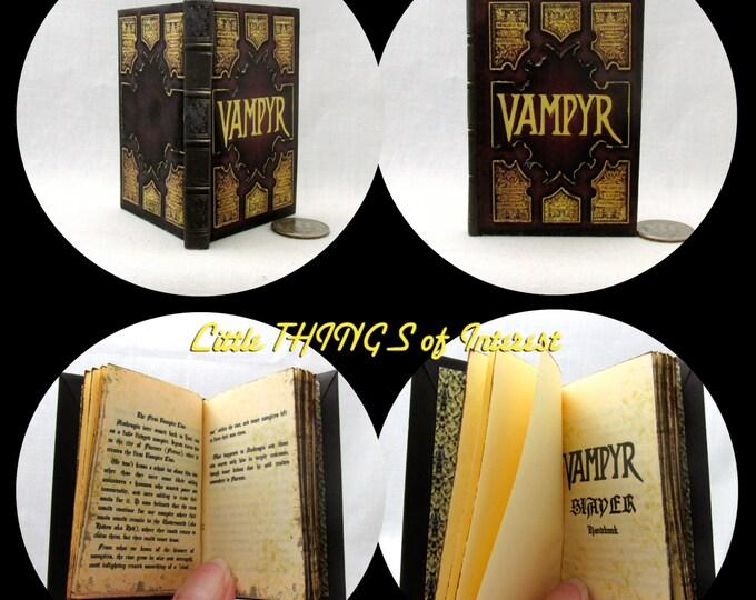 VAMPYR SLAYER HANDBOOK Miniature Book in 1:3 Scale Readable Doll Book Vampire Buffy American Girl Doll 18 inch Ag Doll 1/3 Scale