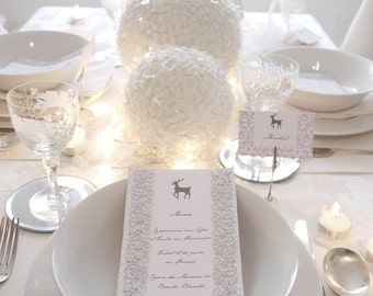 White Winter Wonderland Holiday Party Printables Supplies & Decorations