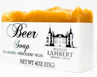 ORGANIC SOAP - Beer Soap - Soap for Men - Natural Soap - Organic Skin Care - mens soap, Boyfriend Gift, mens gifts, Fathers Day Gift.