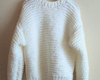 Knit Chunky Sweater Big Sweater Chunky Pullover Knit Chunky Jumper Women's Men's Clothing Oversized Sweater  Made to Order