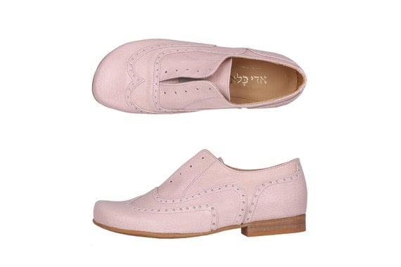 last pair womens oxfords shoes pink leather shoes by adikilav