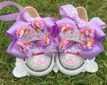 10% OFF Princess Sofia Shoes - Sofia the First - Sofia Party - Sofia Costume - Sophia - Crystals - Pink Converse - Infant/Toddler/Youth