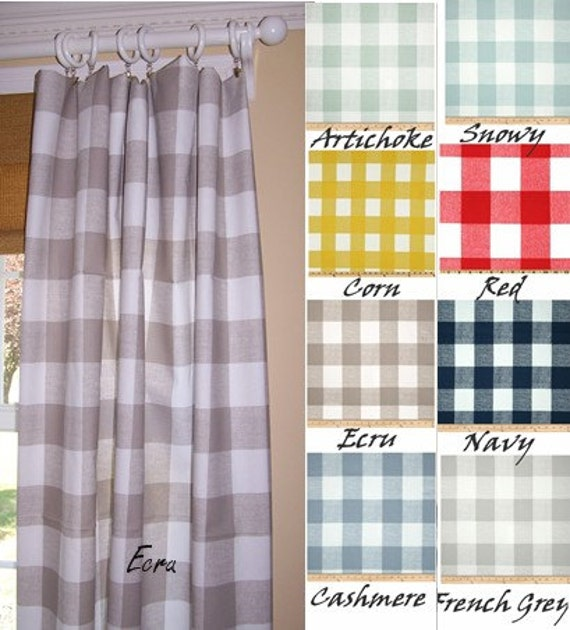 Buffalo Check 9 Colorsecru Curtainsgrey Check
