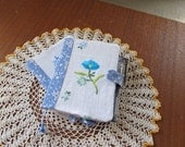 Blue Pocket Notebook, Small Thank You Gift,  BFF Gift, Mini Journal with a Pen