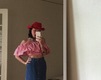 90s GAP DENIM High Waist Skirt