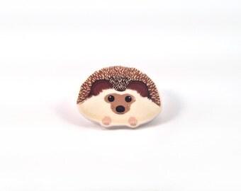 Hedgehog Brooch, Hedgehog Pin, Hedgehog Jewellery, Ethical Jewellery