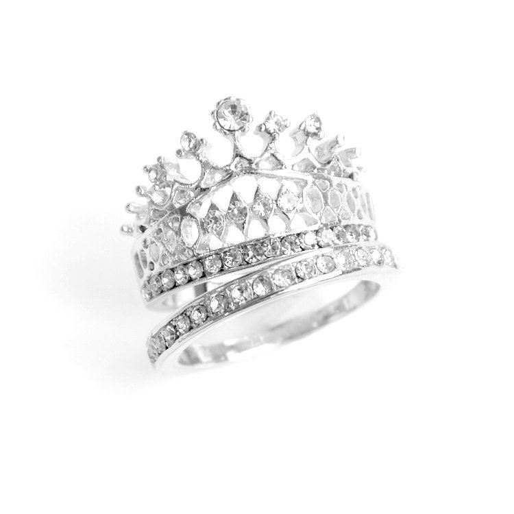 silver crown ring princess crown ring by susydemarchijewelry