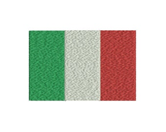 Machine Embroidery Design Instant Download - Italy Tricolor Flag