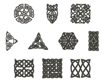 Machine Embroidery Design Instant Download - Celtic Knotwork Collection 1