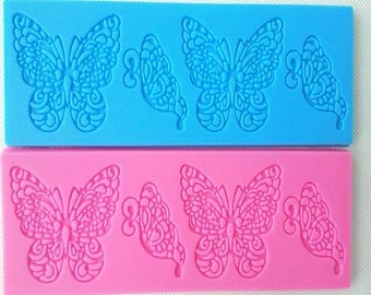 Butterfly Lace Mat Silicone Mold - A-215 - Baking Fondant Wedding Cake Decorating Tools