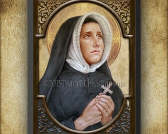 St. Madeleine Sophie Barat Wood Plaque & Holy Card GIFT SET #3127