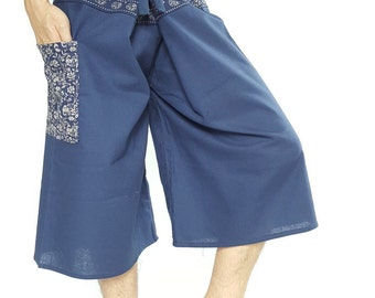 F30014 Fisherman Pants Wide Leg pants, Wrap pants, Unisex pants