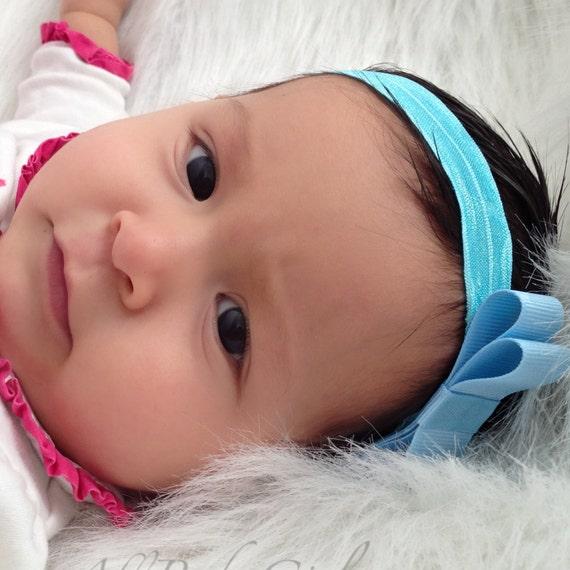 Toddler Headbands, Blue Baby Headband, Baby Bow Headband, Birthday Headpiece, Baby Headband, Newborn Headband, Toddler Headband