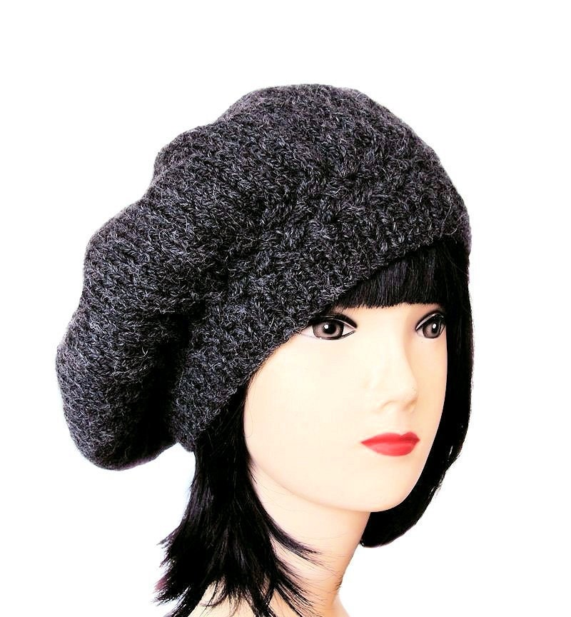 s beret grey beret hat wool hat wool beret grey