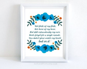 Adoption Poem - 8x10 Print - Inspirational Adoption Art