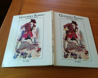 Gulliver's Travels by Jonathan Swift Illustrated Children's Book Vintage 80s