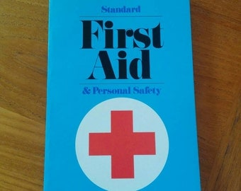 Vintage First Aid Book American Red Cross 1970s