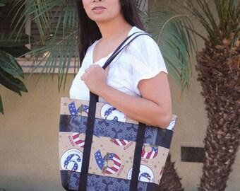 Homefront Girl Got your six mesh tote bag-Medium