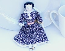 Civil War Doll, 1800's Doll, Flat Top China Doll, Antique China Doll, Collectible Doll, Heirloom Doll, China Hand & Feet, Collectors Doll