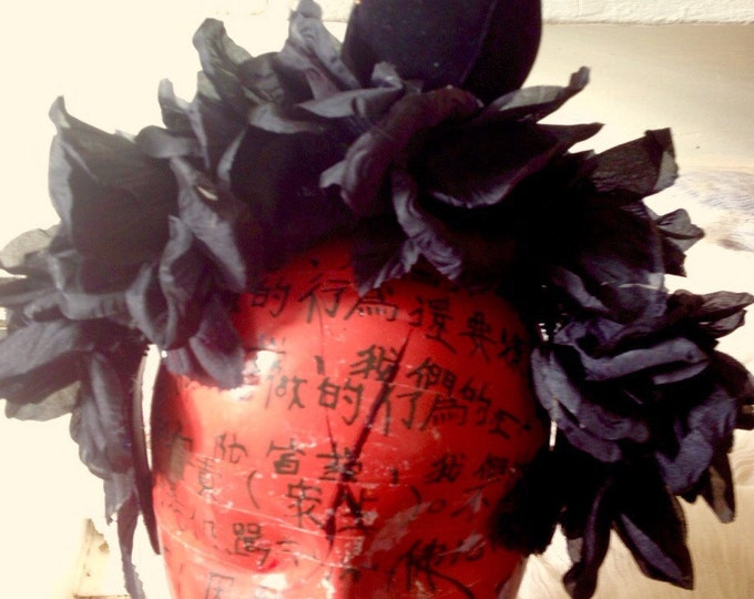 Floral Crown,Sugar Skull,Dia de Los Muertos, Black roses headdress,Crow headdress,black bird headband,Day of the Dead,floral headdress,Goth