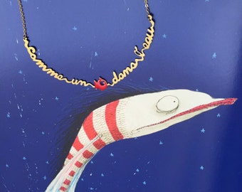 Necklace sentence like a fish in water