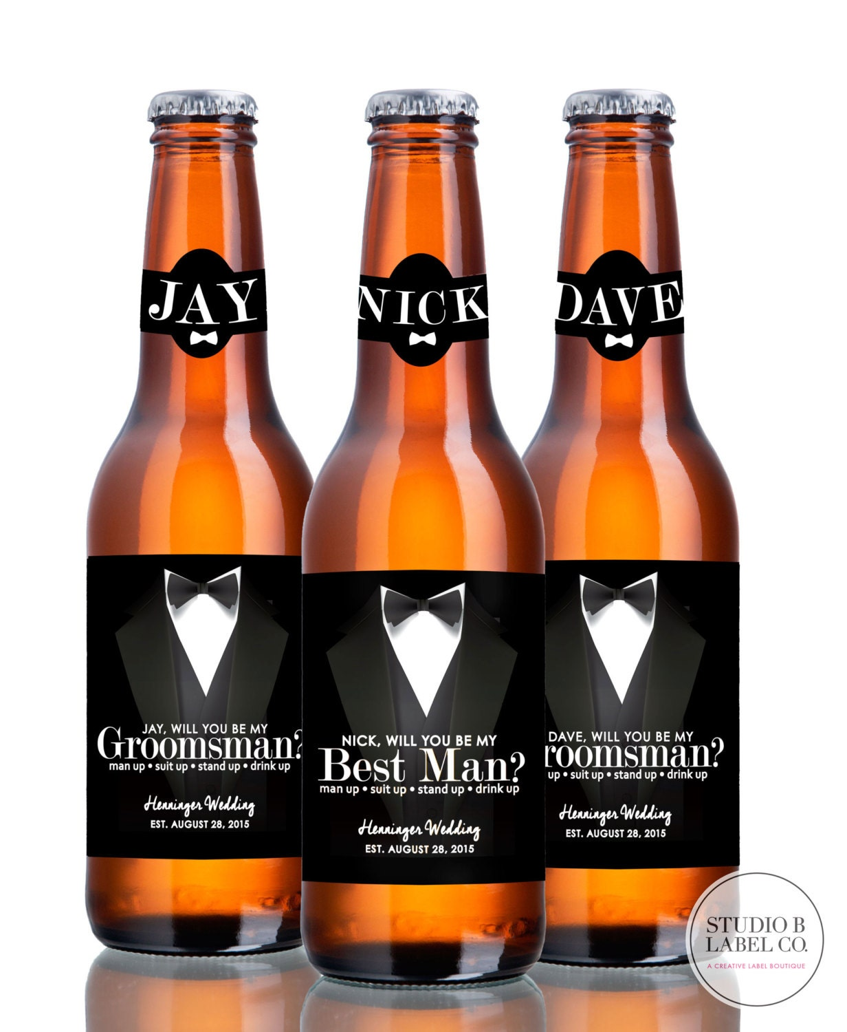 Beer Labels Will You Be My Groomsman Best Man By StudioBLabels