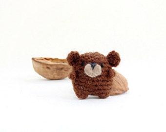 Amigurumi bear, miniature crochet Bear. Cute crochet Bear, miniature  Bear. Stocking stuffer.