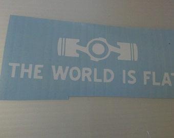 The World is Flat Subaru Vinyl Decal