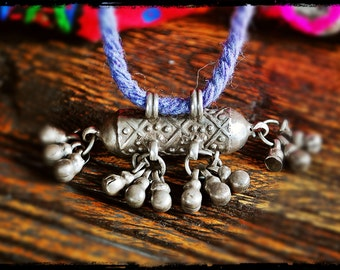 Tribal Old Silver Pendant from Rajasthan