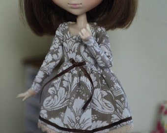 Classy vintage dress Pullip Obitsu 27 by Atelier Milabrocc