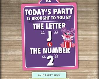 Abby Cadabby // Sesame Street PRINTABLE Party Sign // 8x10