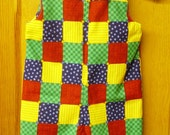 Patchwork Overalls, Girls Overalls,