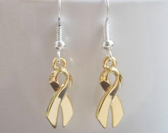 Childhood Cancer Ribbon Awareness Earrings