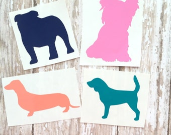 Dog Car Decals Etsy - Vinyl stickers for cars near me