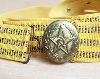 Vintage Soviet  USSR Military Belt , Officer belt
