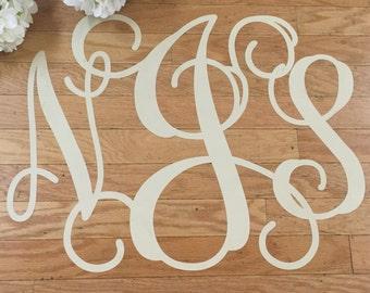 Wedding Monogram Personalized Removable Dance Floor Monogram