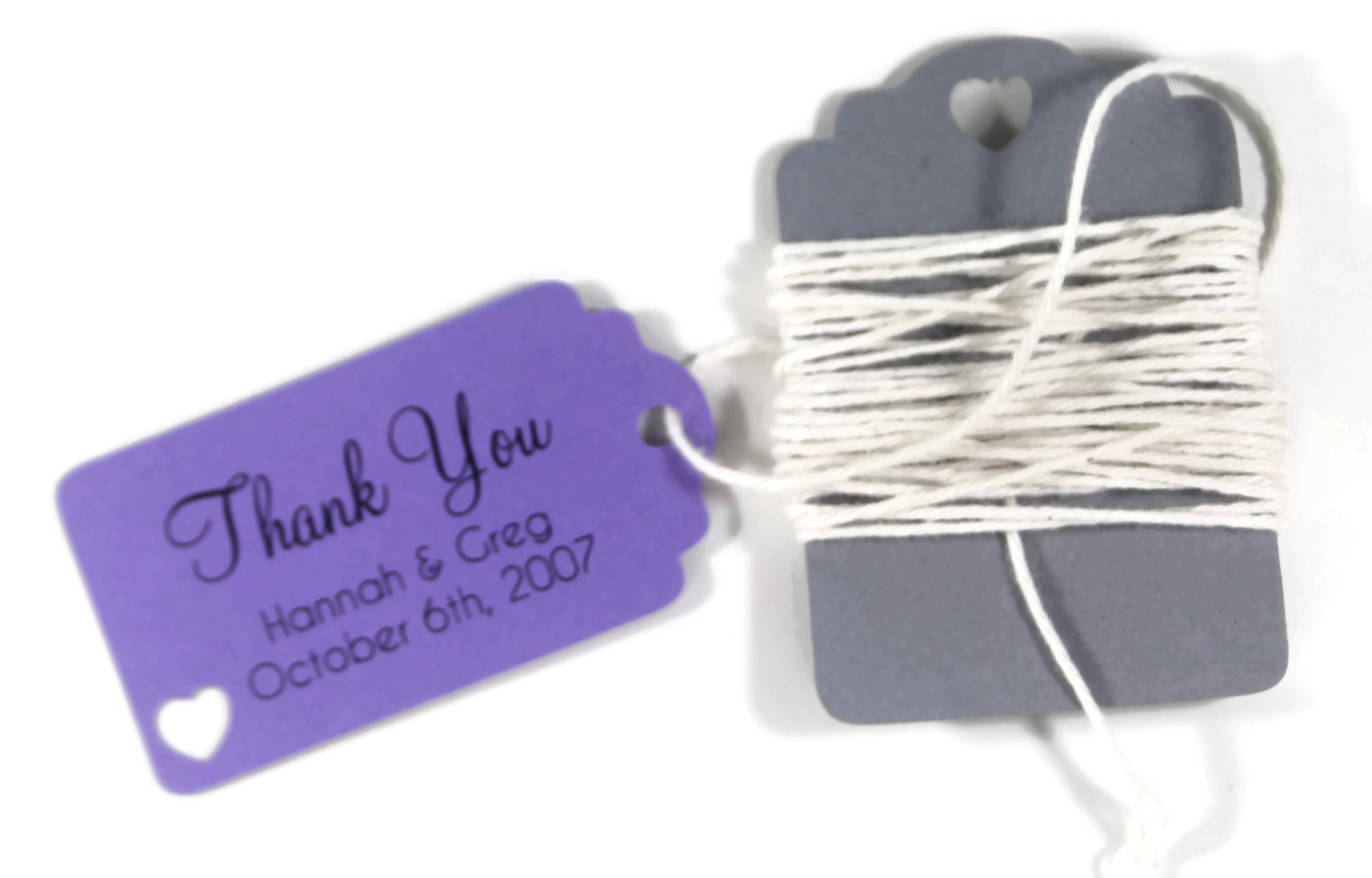 small purple wedding favor tags set of 20 by thepapermedley With small tags for wedding favors