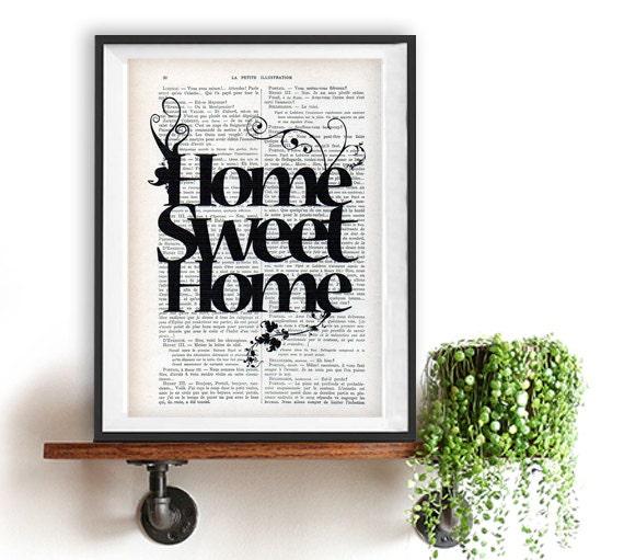 La maison douce maison impression impression typographique for Articles pour la maison