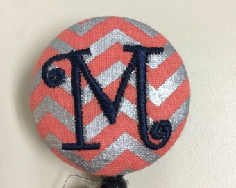 Personalized monogrammed custom retractable badge holder reel