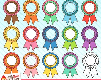 Prize Ribbon Clip Art and Lineart - personal and commercial use