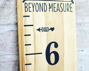 Height Marker for Growth Chart Ruler - MOM & DAD Vinyl Decal Arrow - Measuring Mark - LEFT facing