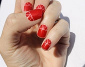 Red Indio Nail Wraps
