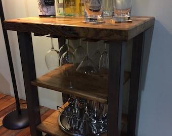 Urban Industrial Reclaimed Wood Dry Bar