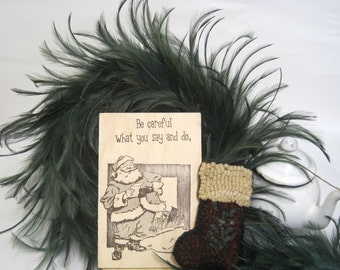 """Custom WoodCards """"Be Careful What You Say Or Do"""" - Christmas Cards - Letterpress Printed Cards - Letterpress Christmas Cards - Hand Printed"""