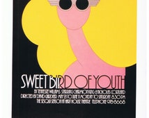 Sweet Bird of Youth Theatre 1977 Canadian Poster Print