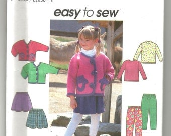 UNCUT 8307 Simplicity Sewing Pattern Girls Jacket Skirt Pants Top Size 3 4 5 6